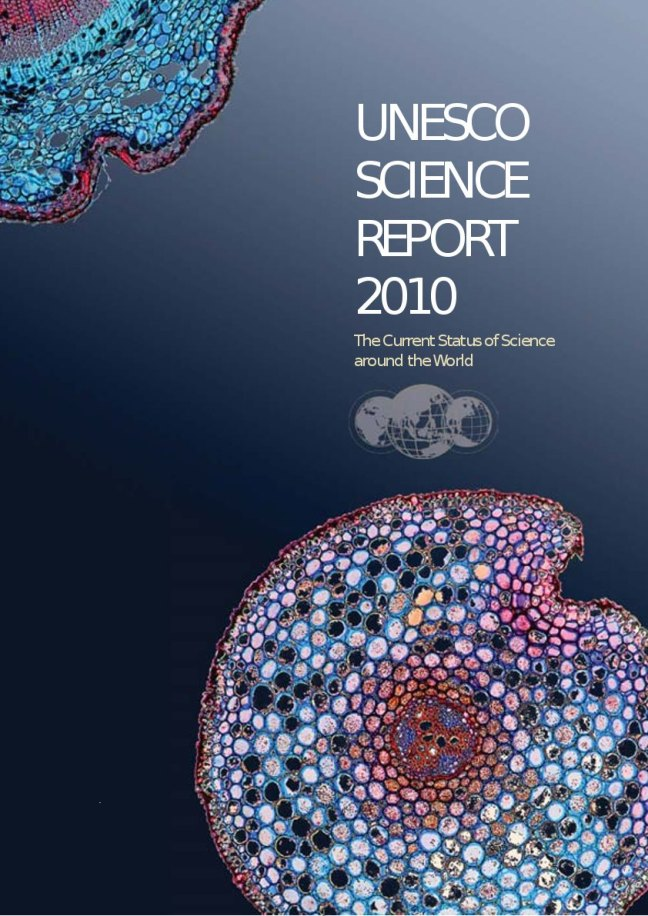 Front page of the UNESCO Science Report 2010 rendered by PDF Clown (clipped (crop box))