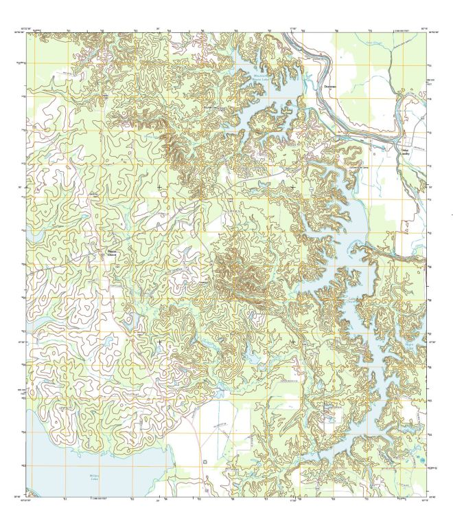 USGS map as rendered by Adobe Reader